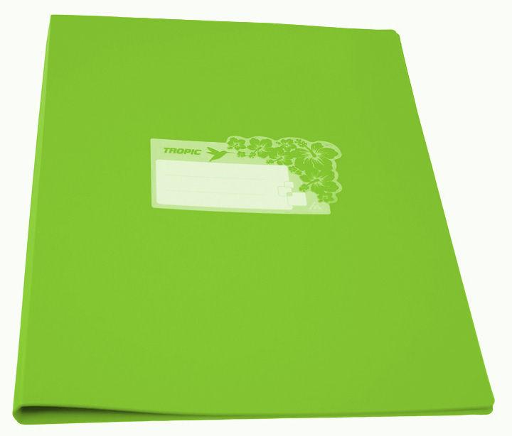 Папка с метал.зажим Бюрократ Tropic -TR07CLETT A4 пластик 0.7мм салатовый