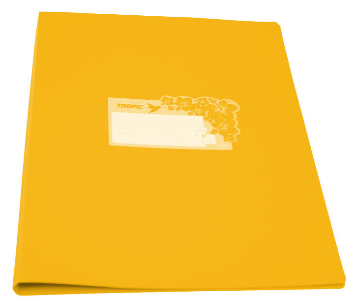 Папка с метал.зажим Бюрократ Tropic -TR07CYEL A4 пластик 0.7мм желтый
