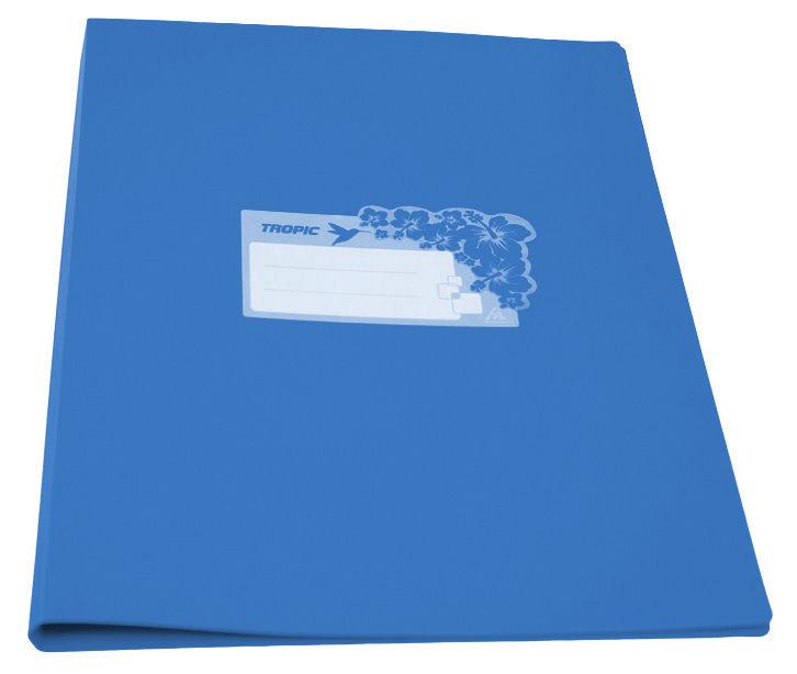 Папка с метал.пруж.скоросш. Бюрократ Tropic -TR07PAZURE A4 пластик 0.7мм голубой