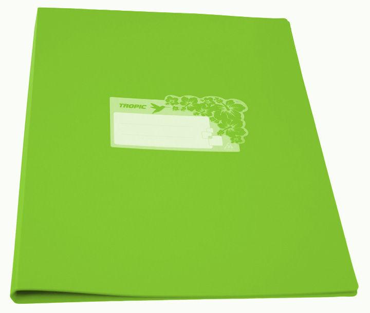 Папка с метал.пруж.скоросш. Бюрократ Tropic -TR07PLETT A4 пластик 0.7мм салатовый