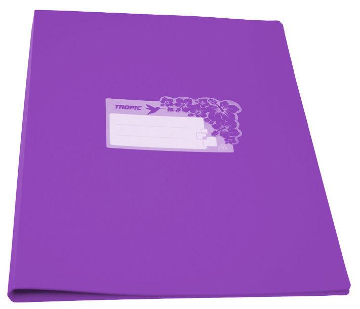 Папка с метал.пруж.скоросш. Бюрократ Tropic -TR07PVIO A4 пластик 0.7мм фиолетовый