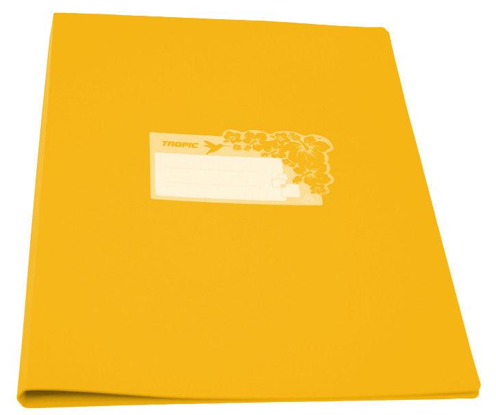 Папка с метал.пруж.скоросш. Бюрократ Tropic -TR07PYEL A4 пластик 0.7мм желтый