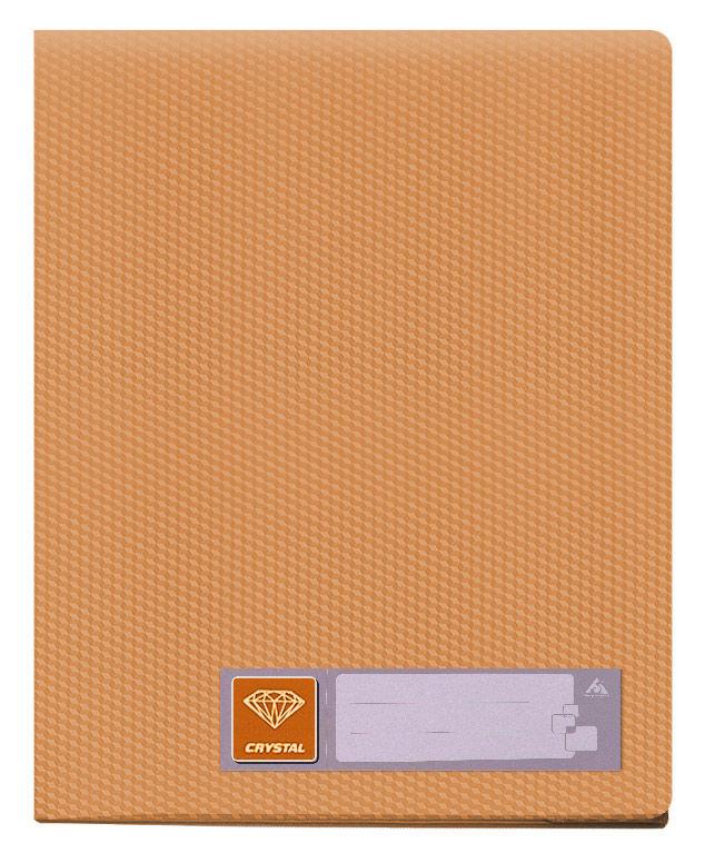 Папка с 100 прозр.вклад. Бюрократ Crystal -CR100OR A4 пластик 0.7мм оранжевый