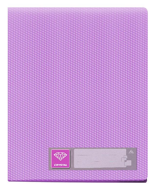 Папка с 100 прозр.вклад. Бюрократ Crystal -CR100VIO A4 пластик 0.7мм фиолетовый