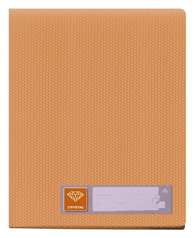 Папка с 20 прозр.вклад. Бюрократ Crystal -CR20OR A4 пластик 0.5мм оранжевый