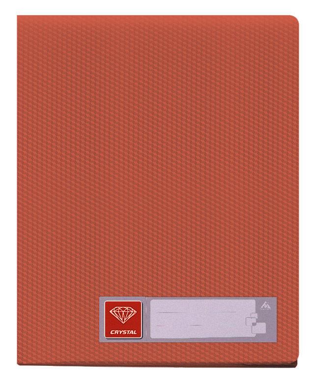 Папка с 20 прозр.вклад. Бюрократ Crystal -CR20RED A4 пластик 0.5мм красный