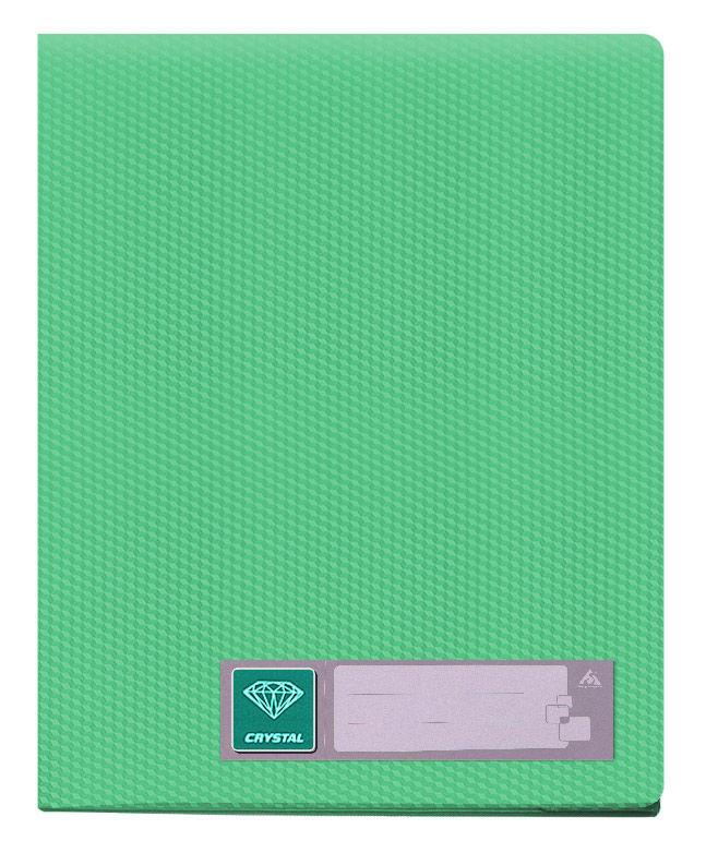 Папка с 30 прозр.вклад. Бюрократ Crystal -CR30GRN A4 пластик 0.5мм зеленый