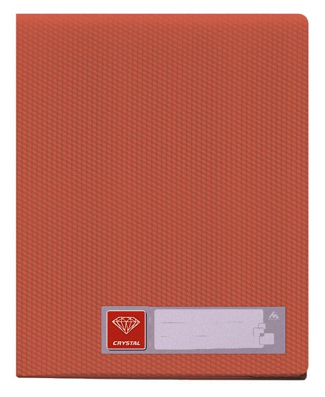 Папка с 30 прозр.вклад. Бюрократ Crystal -CR30RED A4 пластик 0.5мм красный