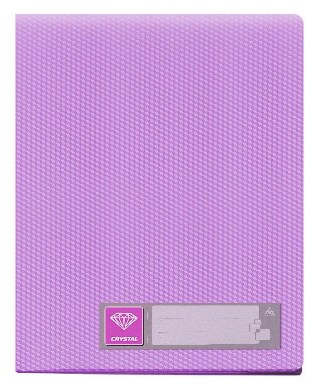Папка с 30 прозр.вклад. Бюрократ Crystal -CR30VIO A4 пластик 0.5мм фиолетовый