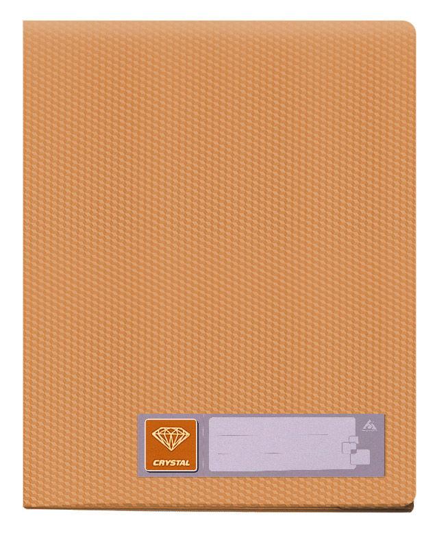 Папка с 40 прозр.вклад. Бюрократ Crystal -CR40OR A4 пластик 0.5мм оранжевый