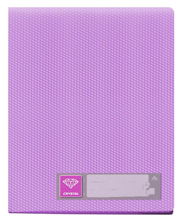Папка с 40 прозр.вклад. Бюрократ Crystal -CR40VIO A4 пластик 0.5мм фиолетовый