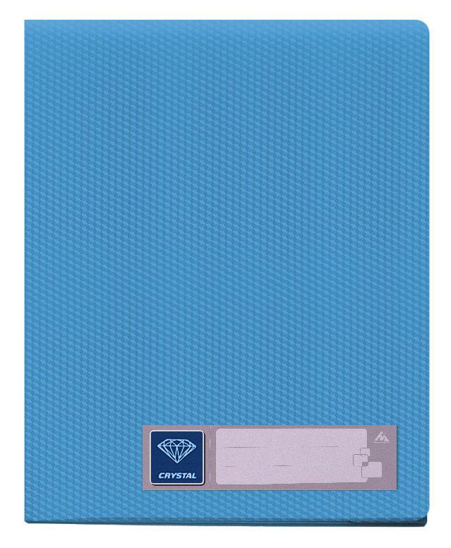 Папка с 60 прозр.вклад. Бюрократ Crystal -CR60BLUE A4 пластик 0.7мм голубой