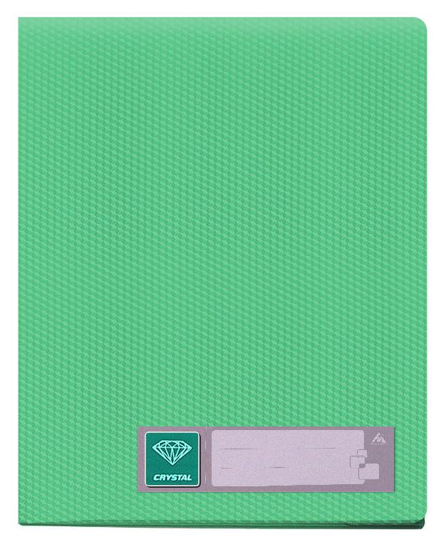 Папка с 60 прозр.вклад. Бюрократ Crystal -CR60GRN A4 пластик 0.7мм зеленый