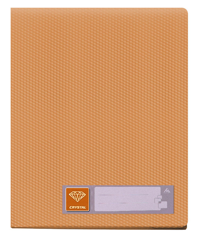 Папка с 60 прозр.вклад. Бюрократ Crystal -CR60OR A4 пластик 0.7мм оранжевый