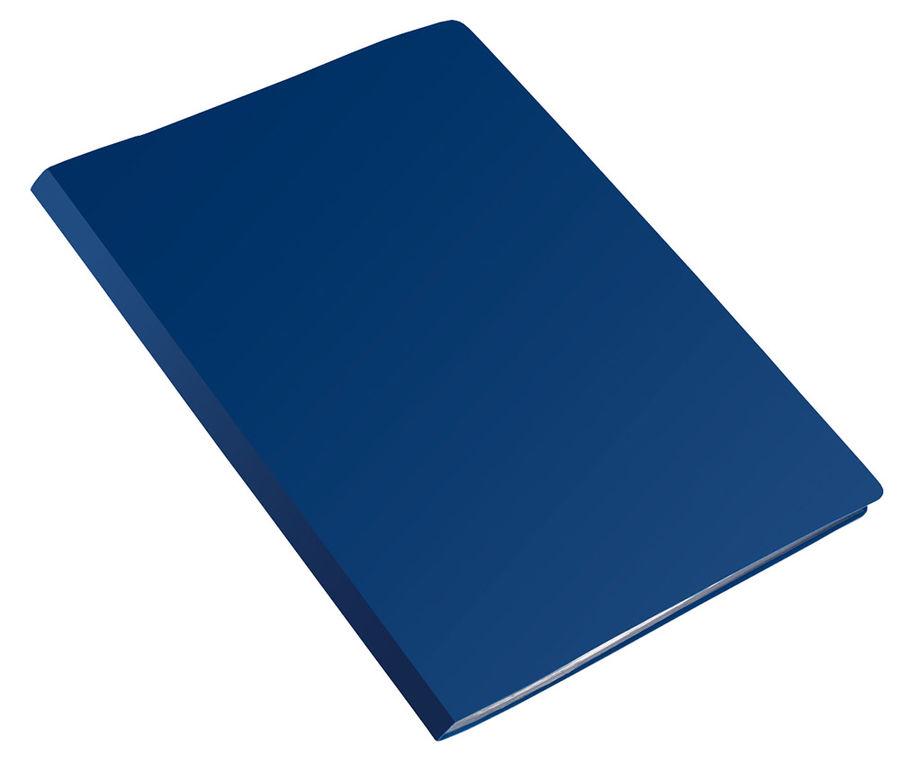 Папка с 10 прозр.вклад. Бюрократ Economy -EC10BLUE A4 пластик 0.4мм синий