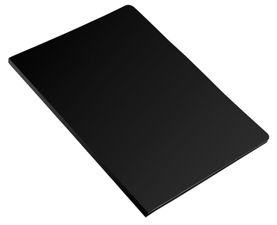 Папка с 20 прозр.вклад. Бюрократ Economy -EC20BLACK A4 пластик 0.4мм черный