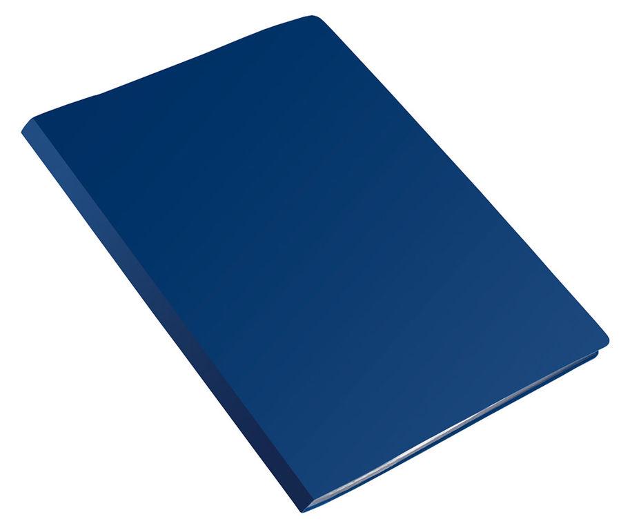 Папка с 20 прозр.вклад. Бюрократ Economy -EC20BLUE A4 пластик 0.4мм синий