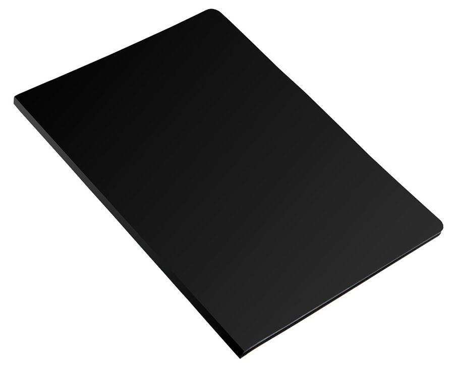 Папка с 40 прозр.вклад. Бюрократ Economy -EC40BLACK A4 пластик 0.4мм черный