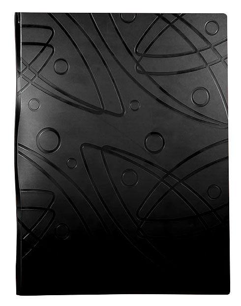 Папка с 20 прозр.вклад. Бюрократ Galaxy -GA20BLCK A4 пластик 0.7мм черный