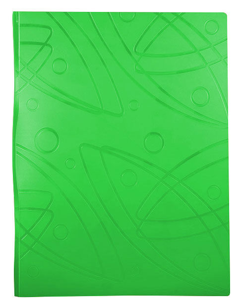 Папка с 20 прозр.вклад. Бюрократ Galaxy -GA20LETT A4 пластик 0.7мм салатовый
