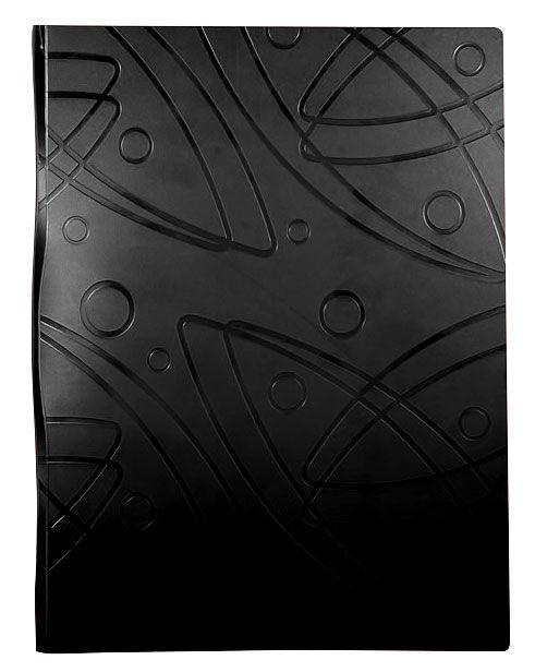 Папка с 40 прозр.вклад. Бюрократ Galaxy -GA40BLCK A4 пластик 0.7мм черный