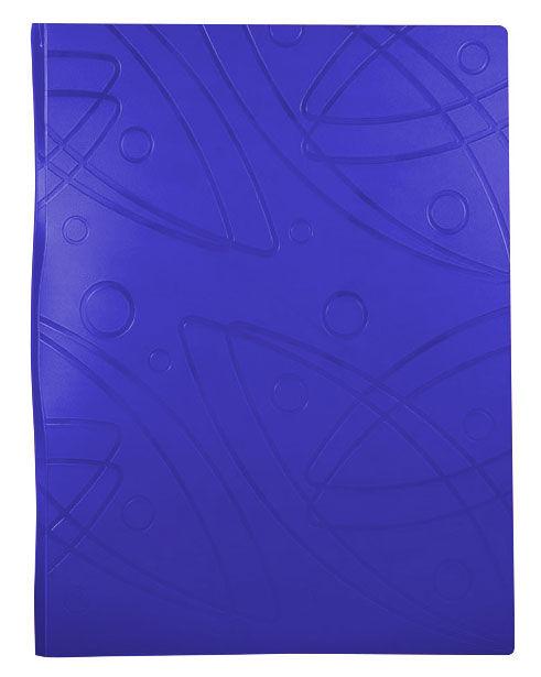 Папка с 40 прозр.вклад. Бюрократ Galaxy -GA40BLUE A4 пластик 0.7мм синий