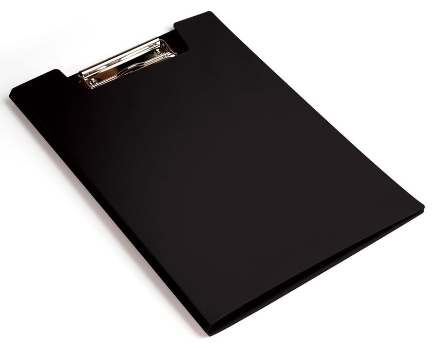 Папка клип-борд Бюрократ -PD602BLCK A4 пластик 1.2мм черный