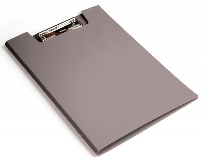 Папка клип-борд Бюрократ -PD602GREY A4 пластик 1.2мм серый