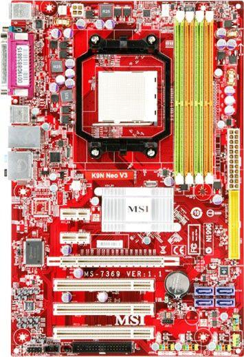 Материнская плата MSI K9N Neo-F V3 SocketAM2, ATX, Ret