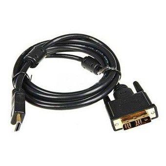 Кабель Buro HDMI (m)/DVI-D(m) 5м. феррит.кольца Позолоченные контакты черный (HDMI-19M-DVI-D-5M)