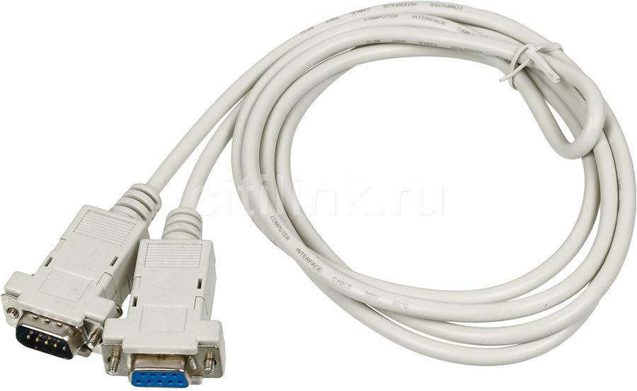 Кабель-удлинитель Serial 9 pin BURO COM 9-pin (m) -  COM 9-pin (f),  1.8м,  серый [013-06]