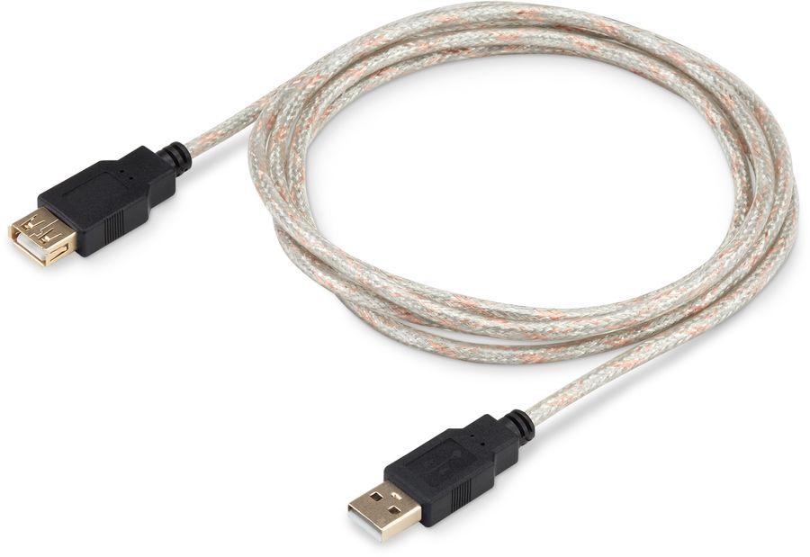 Кабель-удлинитель USB2.0 BURO USB2.0-AM-AF-S,  USB A (m) -  USB A (f),  GOLD ,  1.8м