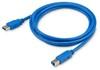 Кабель USB3.0 BURO USB A (m) -  USB B (m),  1.8м,  синий [usb3.0-am/bm] вид 1