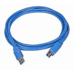 Кабель USB3.0 BURO USB A (m) -  USB B (m),  5м,  синий [usb3.0-am/bm-5]