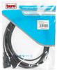 Кабель-удлинитель питания BURO AN23-1008-5,  IEC320-C13 -  IEC320-C14,  5м,  черный вид 2