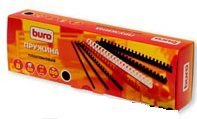 Пружина пластиковая BURO BU-203w,  8мм,  A4,  100,  белый