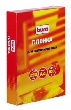 Пленка для ламинирования BURO BU-4LP250,  250мкм,  216х303 мм,  100шт.,  глянцевая,  A4