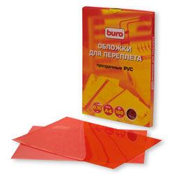 Обложка BURO BU-PVC015r,  A4,  150мкм,  100,  красный