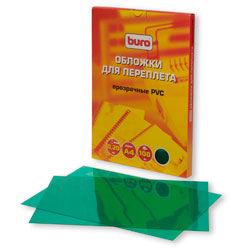 Обложка BURO BU-PVC020g,  A4,  200мкм,  100,  зеленый