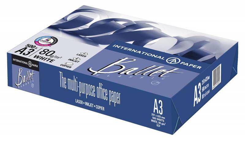 Бумага International Paper Ballet Classic A3/80г/м2/500л./белый CIE153% общего назначения(офисная)