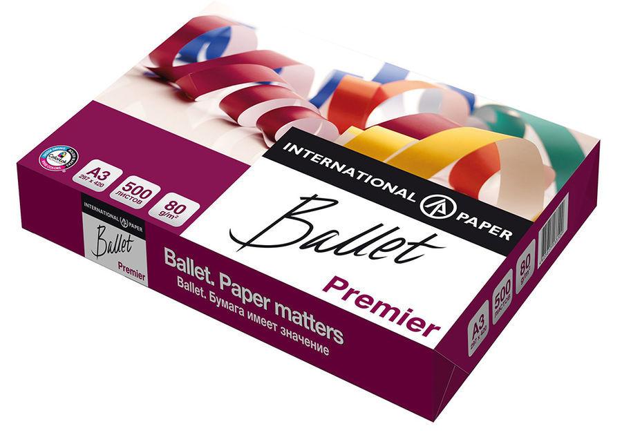 Бумага International Paper Ballet Premier A3/80г/м2/500л./белый общего назначения(офисная)