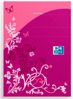 Блокнот Oxford ELEGANCE 400004628 90x140мм обложка картон 48стр. линейка скрепки розовый