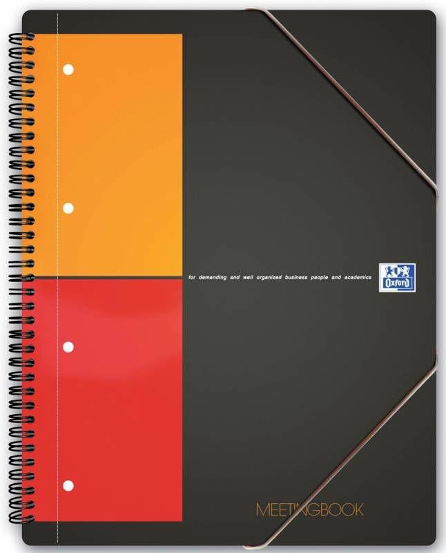 Тетрадь Oxford International MEETINGBOOK 100100362 A4+ PP 80л клетка папка с 3 клапанами спираль