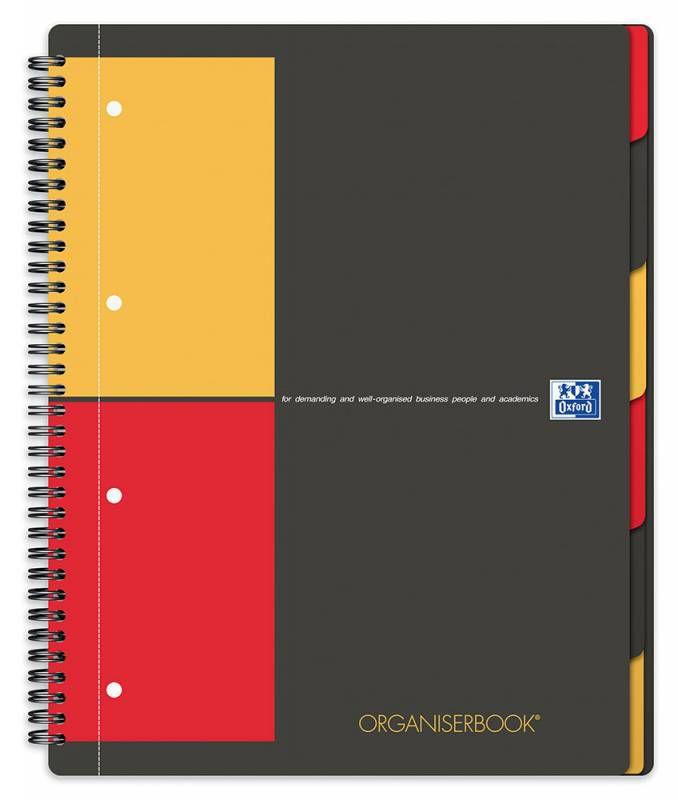 Тетрадь Oxford International ORGANIZERBOOK A4+ PP 80л клетка папка с 3 клапанами спираль двойная чер [100102777]