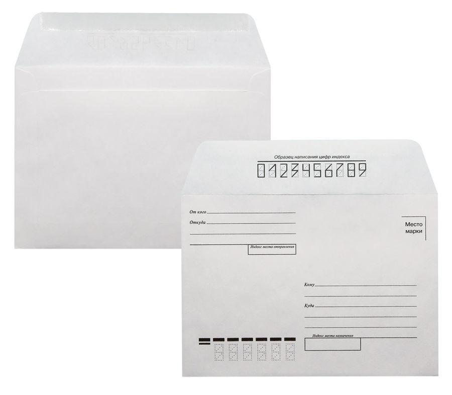 """Конверт Бюрократ 201 C6 114x162мм """"Куда-Кому"""" белый клеевой слой 80г/м2 (pack:1000pcs)"""