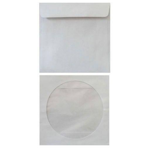 Конверт Бюрократ 201070 CD 125x125мм с окном белый клеевой слой 80г/м2 (pack:1000pcs)