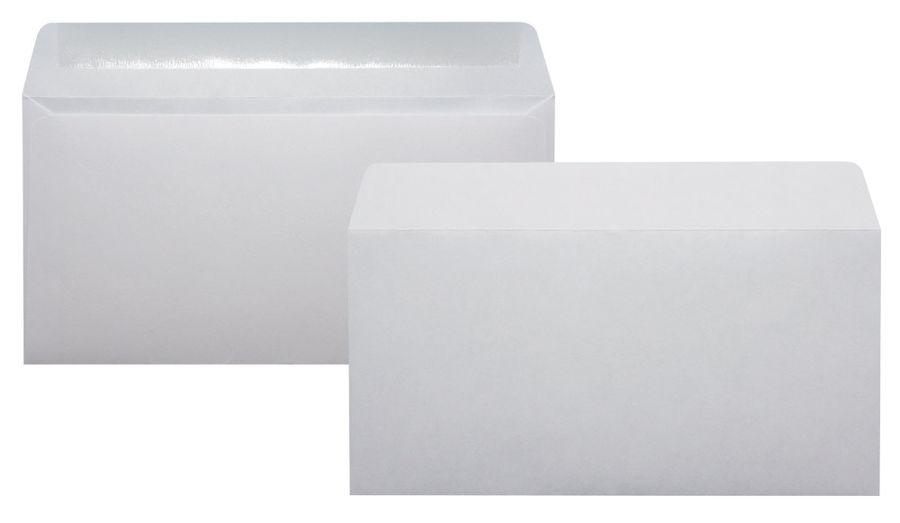 Конверт Бюрократ 206 C65 110x220мм белый клеевой слой 80г/м2 (pack:1000pcs)