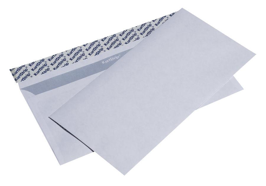 Конверт Бюрократ Е65.10 E65 110x220мм белый силиконовая лента 80г/м2 (pack:1000pcs)