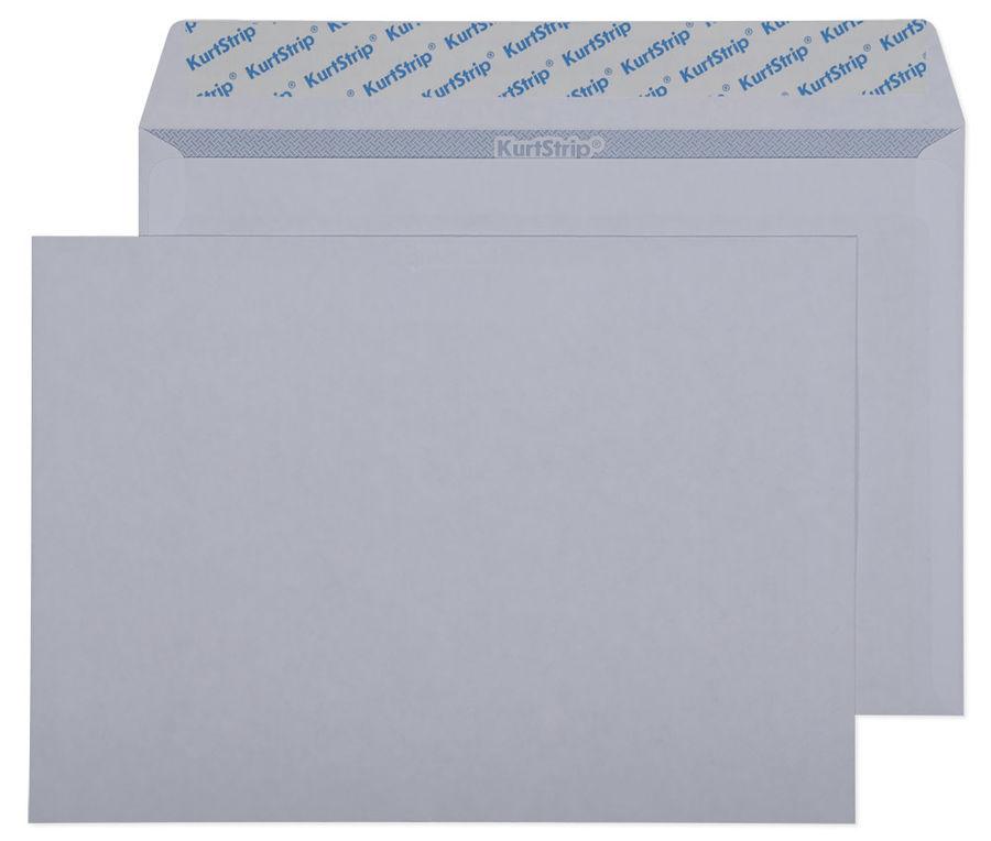 Конверт Бюрократ С50.10 C5 162x229мм без окна белый силиконовая лента бумага 80г/м2 серая запечатка