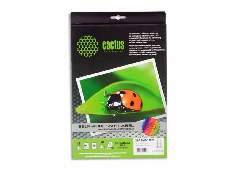 Этикетки Cactus С-30485254 A4 25.4x48.5мм 40шт на листе/50л.